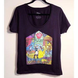 Disney Beauty and the Beast T-shirt, Sz L